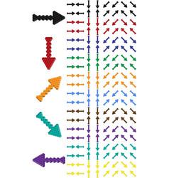 arrow set arrow consisting of isometric cubes vector image vector image