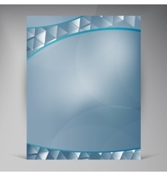 Beautiful Blue Flyer vector image vector image