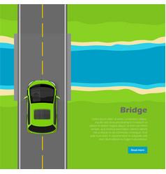 bridge conceptual flat web banner vector image vector image