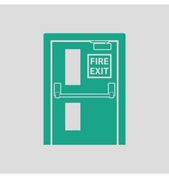 Fire exit door icon vector image