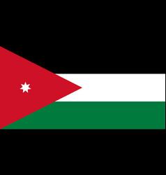 flag in colors of jordan image vector image vector image