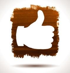 Like hand vector image vector image
