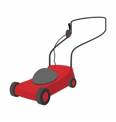 Mower cartoon icon vector image