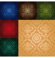 set seamless wallpaper pattern vector image