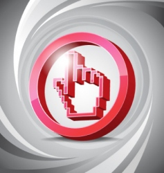 3D icon click vector image vector image