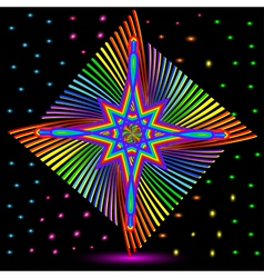 abstract background with colorful star vector image vector image