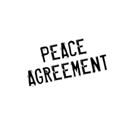 Peace agreement rubber stamp vector