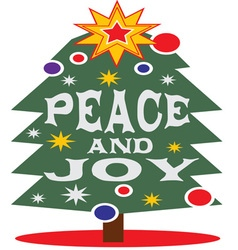 Peace And Joy vector image vector image