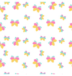 Seamless pattern with pink and orange butterflies vector image vector image