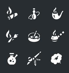 set of smoking icons vector image