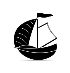 yachts on a white background vector image