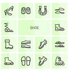 14 shoe icons vector