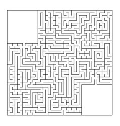 a huge square labyrinth with an entrance and an vector image