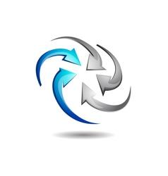 Abstract Circular Arrow Logo vector