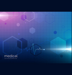 abstract molecule medical healthcare or pharmacy vector image