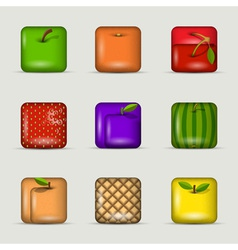 App icons fruits vector