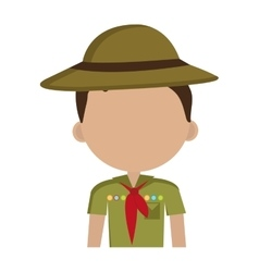 avatar boy with colorful clothes and hat vector image
