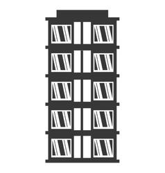 Big building style icon vector