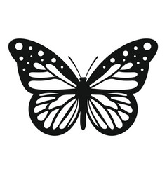 Big butterfly icon simple style vector