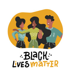 black lives matter concept young afro american vector image
