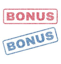Bonus textile stamps vector