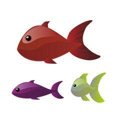 bright fishes vector image