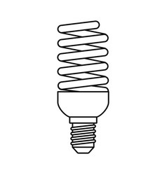 bulb energy saving icon outline style vector image