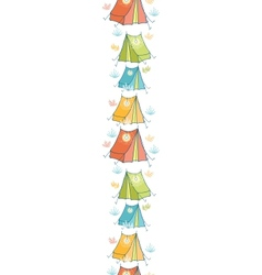 Camp tents vertical seamless pattern background vector image