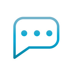 Chat bubble sms user interface blue gradient vector