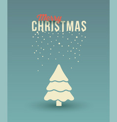 christmas tree greeting card with ornaments and s vector image