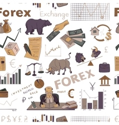Colored finance forex hand drawing pattern vector