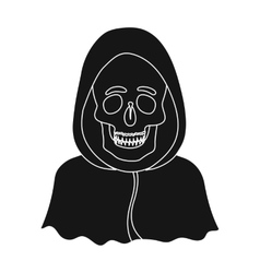 Death icon in black style isolated on white vector