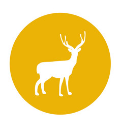 deer silhouette icon forest animal vector image