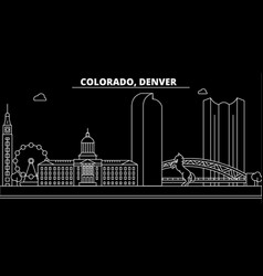 denver silhouette skyline usa - denver vector image
