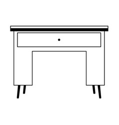 desk wooden furniture with drawer isolated icon vector image