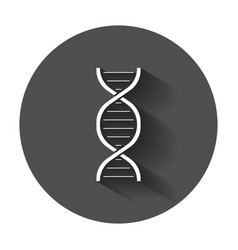 dna icon medecine molecule flat with long shadow vector image