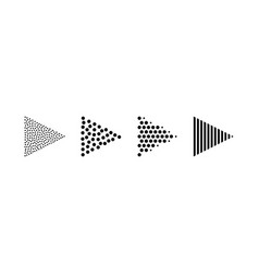 dotted arrow strip black symbols vector image