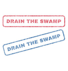 Drain the swamp textile stamps vector