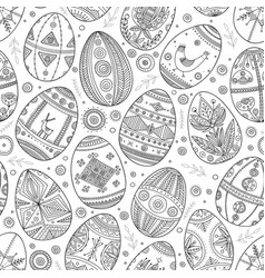 easter eggs in ukrainian traditional style vector image