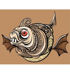 Fantastic fish vector