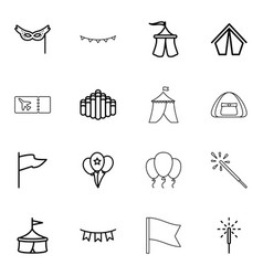 festival icons vector image