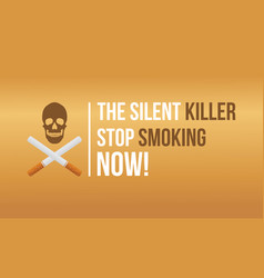 Flat banner no tobacco day vector