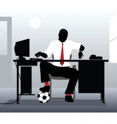 Football desk vector