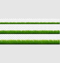 green grass border collection and transparent vector image
