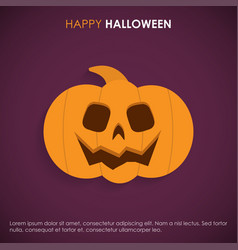 happy halloween cards with creative design and vector image