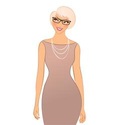 happy woman vector image