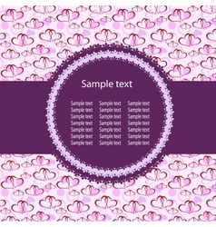 Hearts Background ith sample text vector image