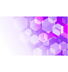 hexagon box on violet gradient abstract background vector image