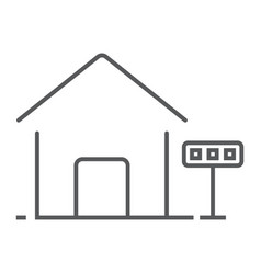 home for rent thin line icon real estate and home vector image