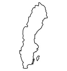 isolated swedish map vector image